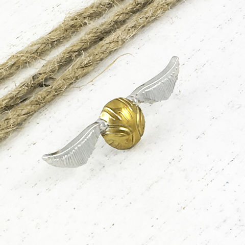 Harry,Potter,|,Golden,Snitch,Pin,Harry potter, golden snitch, pin, lapel pin, double back, two prong, quidditch, flying ball, gold wall with wings, winged ball