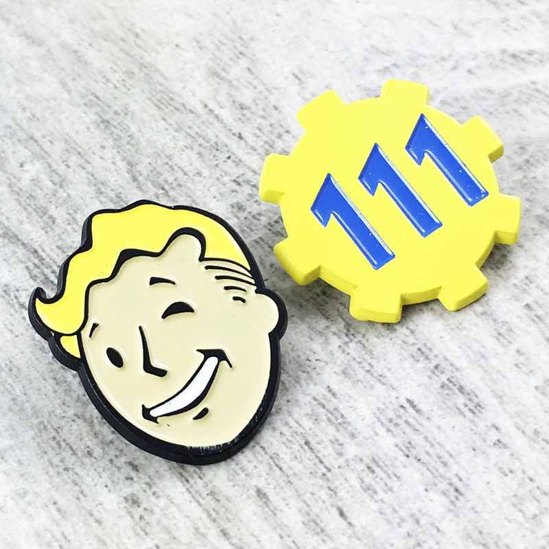 Fallout Enamel Pin Set | Vault Boy and Door 111 - product images  of