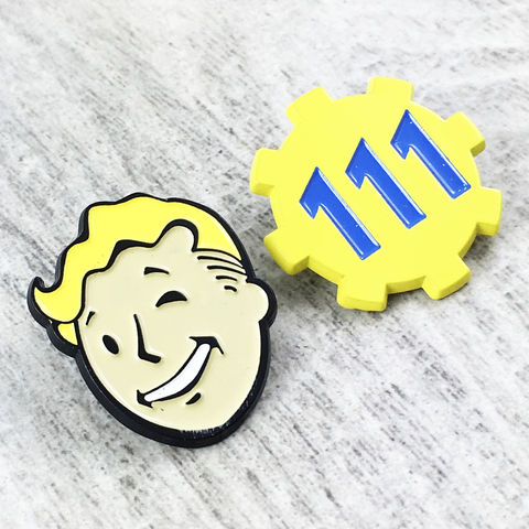 Fallout,Enamel,Pin,Set,|,Vault,Boy,and,Door,111,fallout, vault boy, enamel pin, vault tec, fallout boy, pip boy, vault door, 111, pin set, gamer, geek