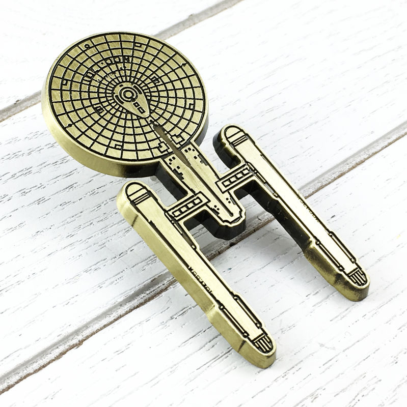 Star Trek Large Bronze Enterprise Pin - product images  of