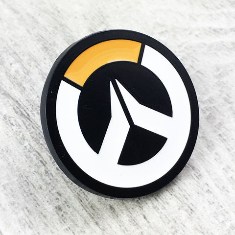 Overwatch,Logo,Large,Enamel,Pin,overwatch, enamel pin, logo, target, orange, colour, metal, gamer, geek
