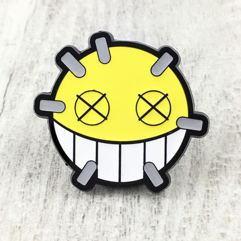 Overwatch,Junkrat,Large,Enamel,Pin,overwatch, enamel pin, junkrat, junk rat, yellow, logo, colour, metal, gamer, geek
