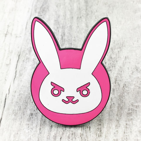 Overwatch,D-Va,Large,Enamel,Pin,overwatch, enamel pin, d-va, diva, pink, bunny, logo, colour, metal, gamer, geek
