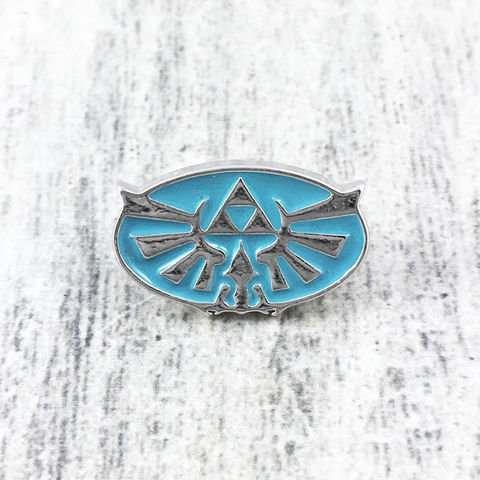 Blue,Hyrule,Mini,Enamel,Pin,legend of zelda, hyrule, hylian, sumbol, triforce, blue, breath of the wild, enamel pin, lapel pin, hat pin, gamer, geek