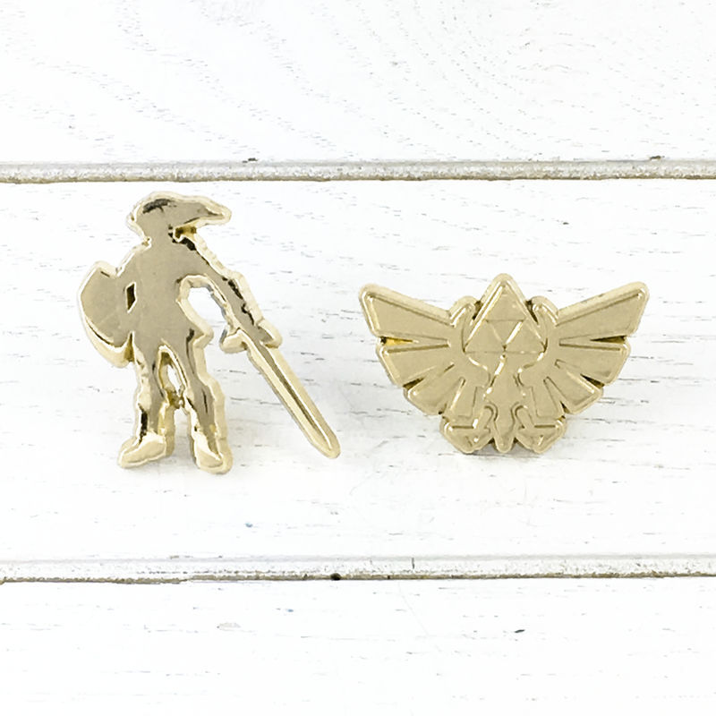 Golden Link and Hyrule Pin Set - product images  of
