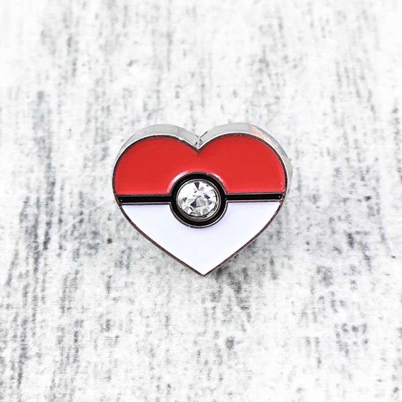 Pokéball Heart Mini Pin - product images  of