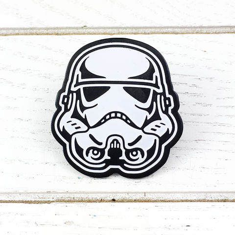 Stormtrooper,Enamel,Pin,star wars, stormtrooper, storm trooper, enamel pin, metal pin, badge, large, stainless steel