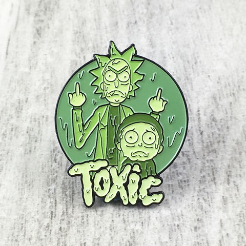 Rick,and,Morty,Toxic,Enamel,Pin,rick and morty, pin, enamel pin, official, badge, metal pin, collectors, toxic, green
