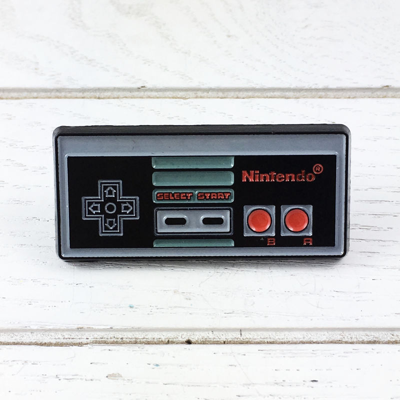 Nintendo NES Controller Enamel Pin - product images  of
