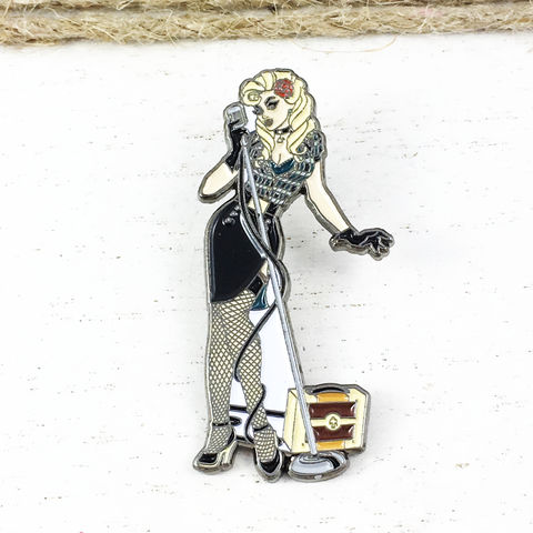 DC,Bombshells,Black,Canary,Enamel,Pin,dc bombshells, black canary, enamel pin, pin collection, dc comics, metal pin, fansets