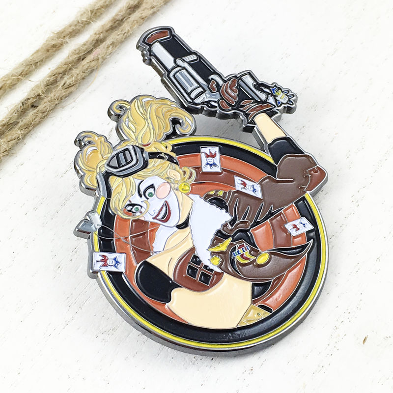 DC Bombshells Harley Quinn Large Pin Badge - product images  of