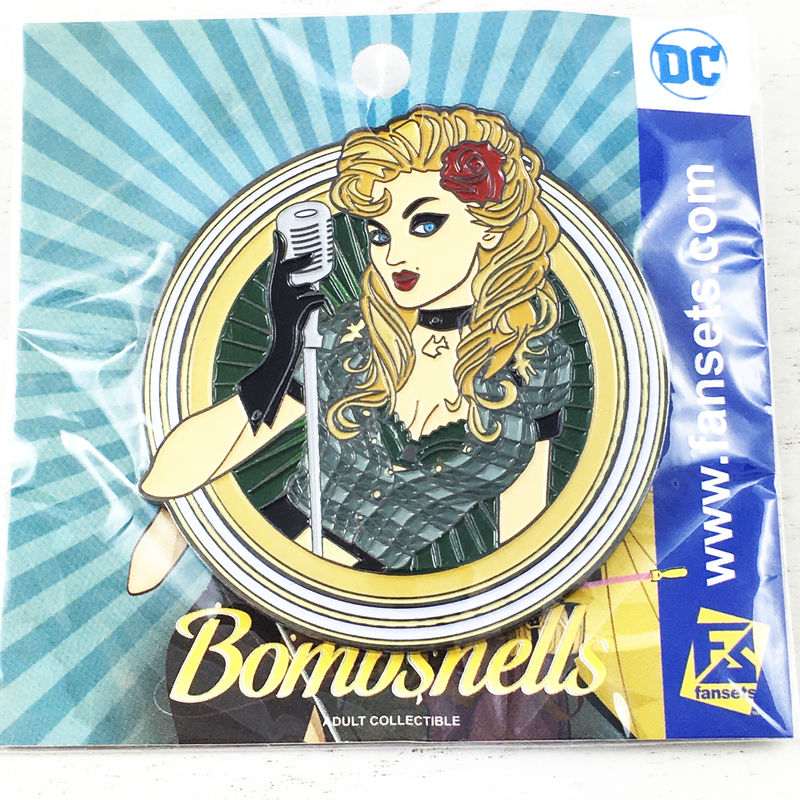 DC Bombshells Black Canary Large Pin Badge - product images  of