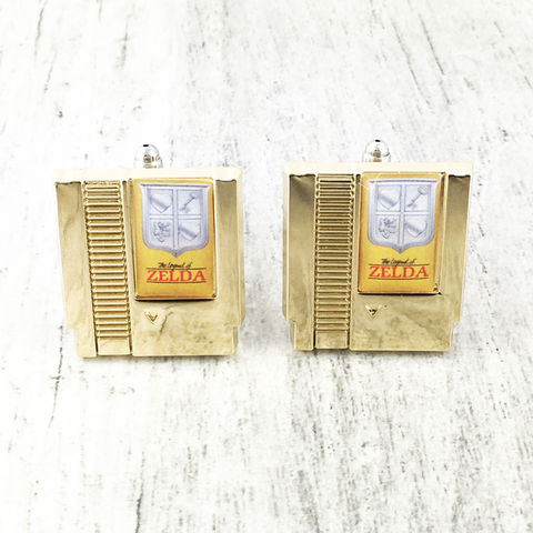 Legend,of,Zelda,Cartridge,Cuff,Links,legend of zelda, cuff links, cufflinks, golden, cartridge, game cartridge, gold, classic, gamer, gaming, geek
