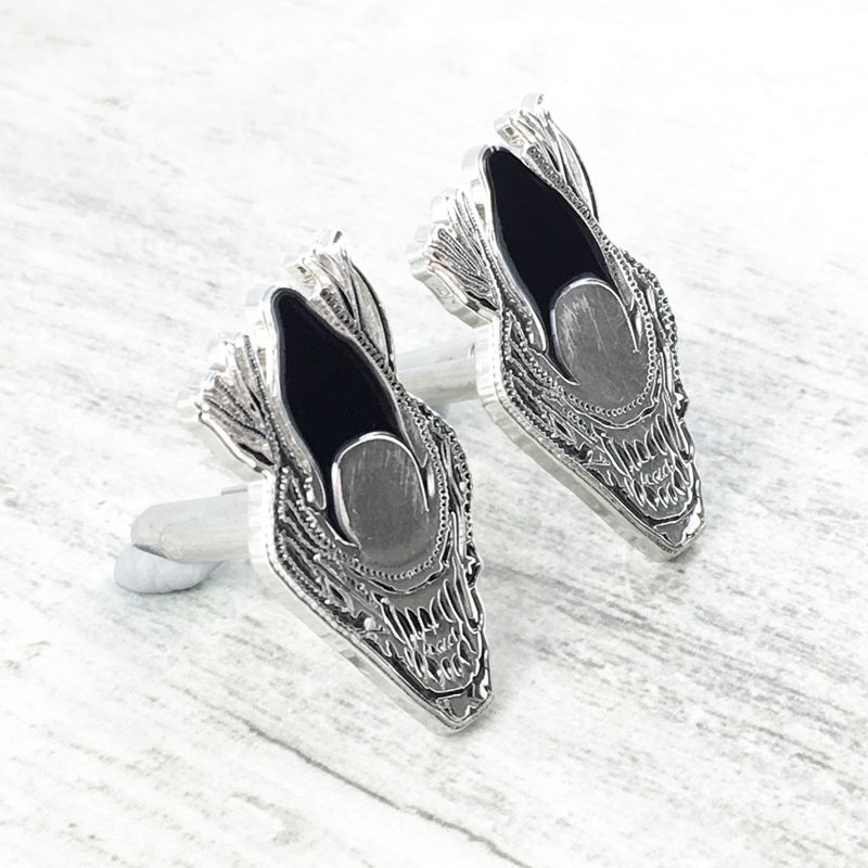 Alien Xenomorph Warrior Head Cuff Links - product images  of