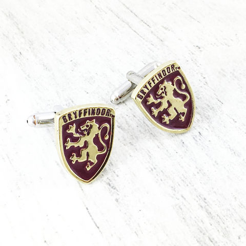 Harry,Potter,Gryffindor,Cuff,Links,harry potter, cuff links, cufflinks, Gryffindor, hogwarts house, gryffondor, boutons de manchettes, potterhead, harry potter wedding