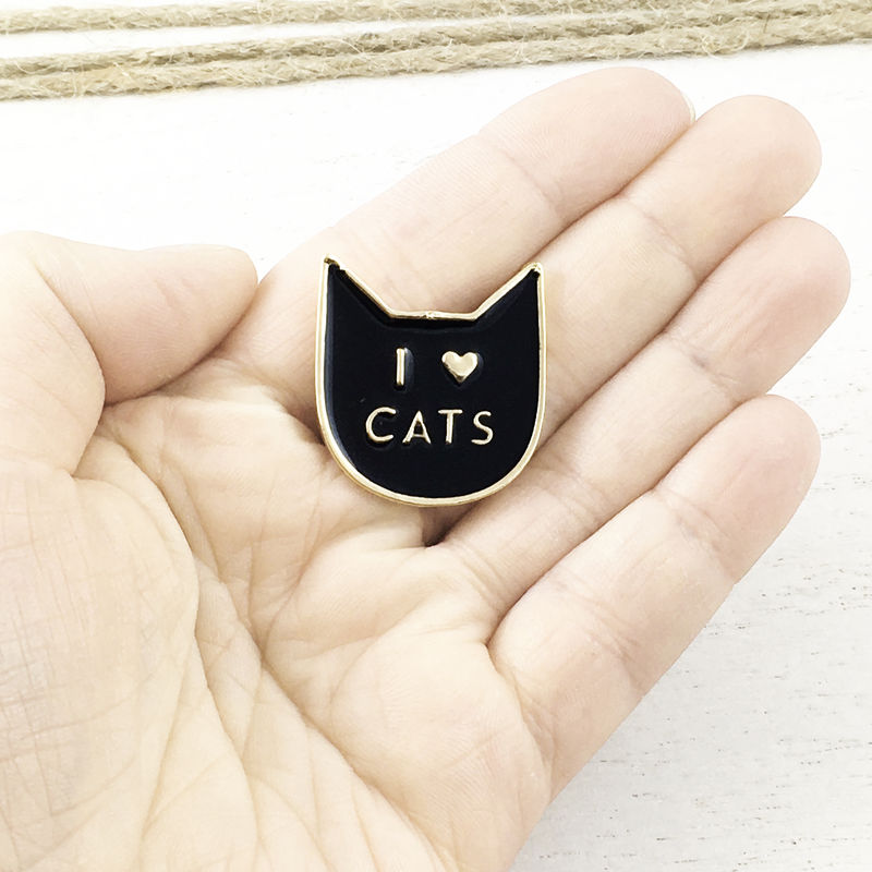 I Heart Cats Enamel Pin - product images  of