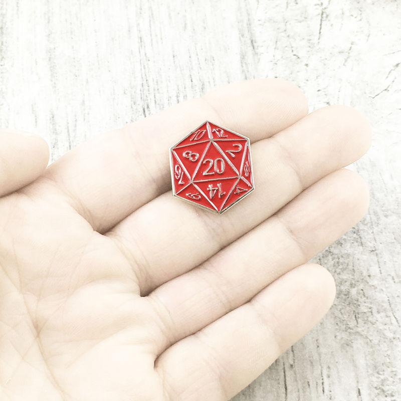 D20 Enamel Pin - Red - product images  of