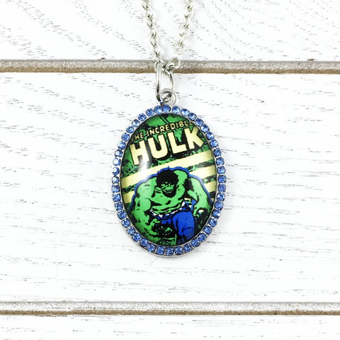 The,Incredible,Hulk,|,Necklace,The incredible hulk, pendant, necklace, bling, hulk, green, bruce banner, cameo, geeky, geek girl