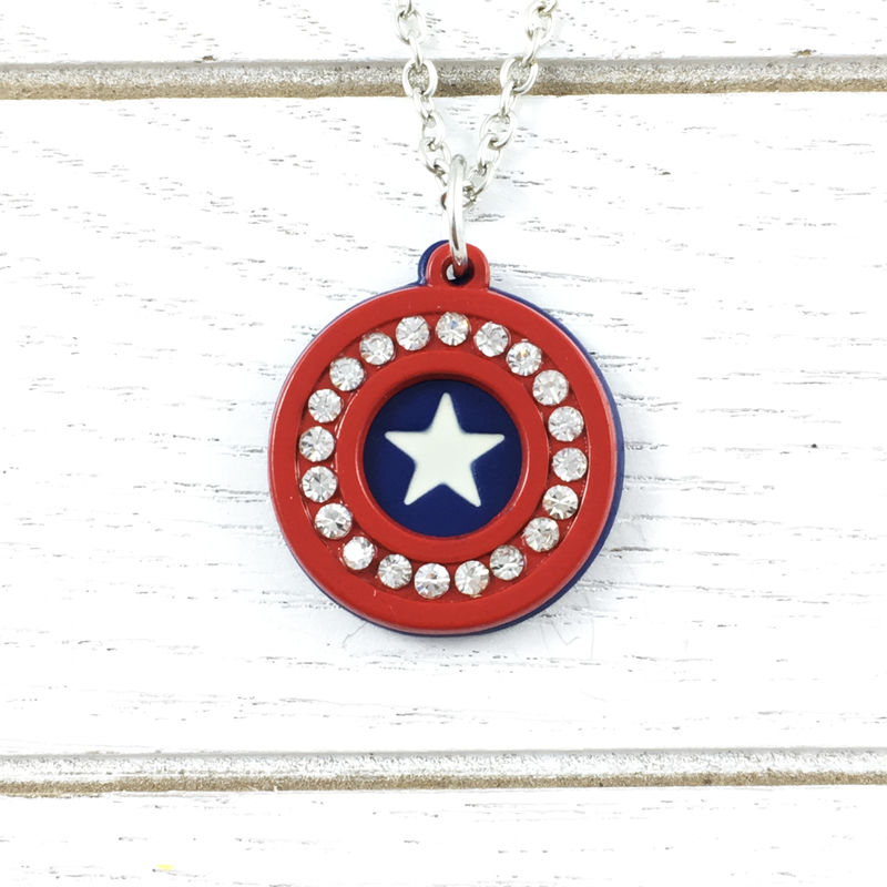 Captain America | Bling detail necklace - product images  of