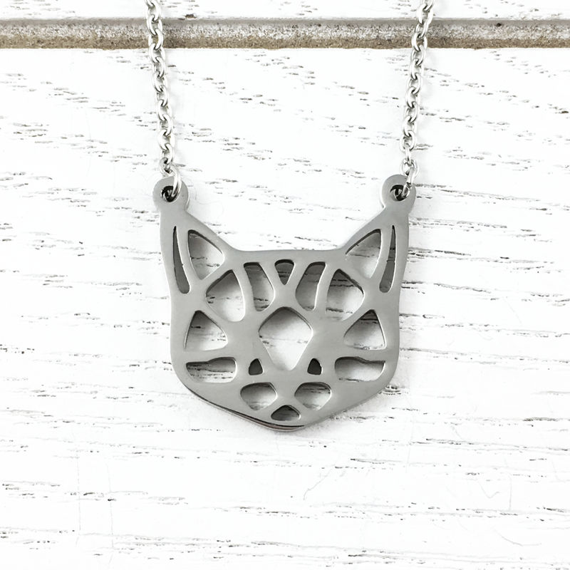 Origami-style Cat Face Necklace - product images  of