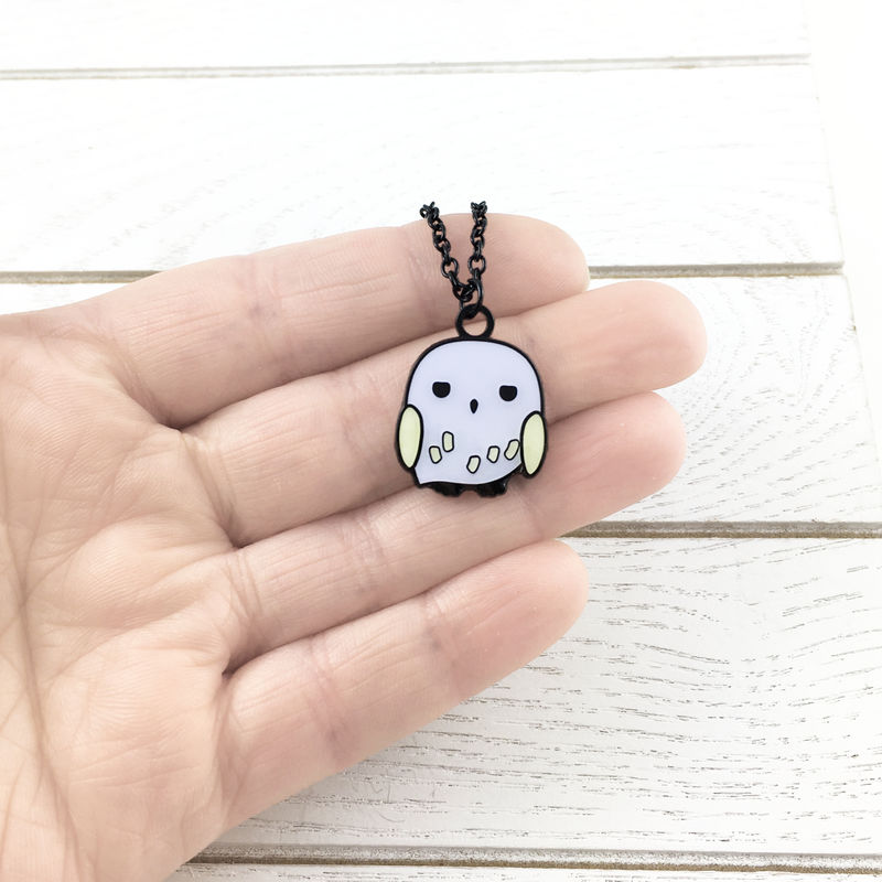 Harry Potter Hedwig Enamel Necklace - product images  of