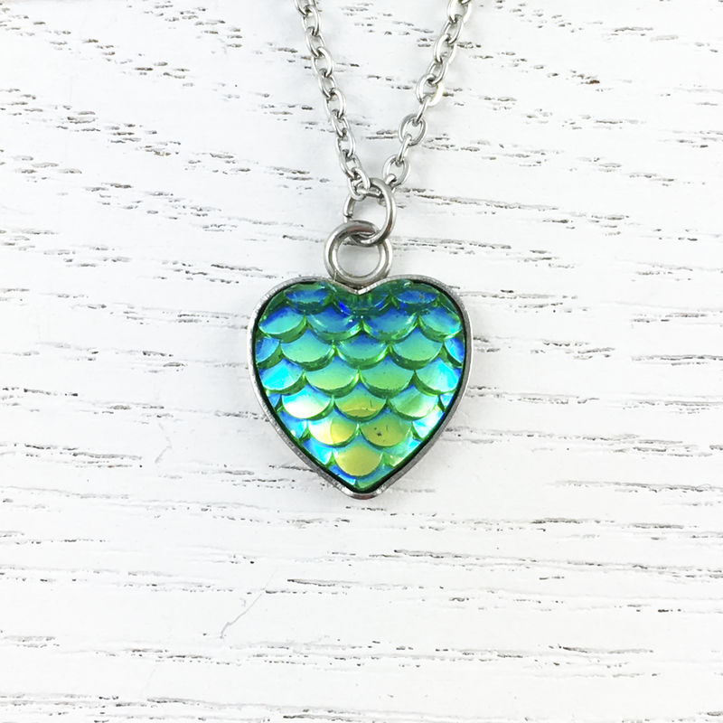 Green Mermaid Scales Necklace - product images  of