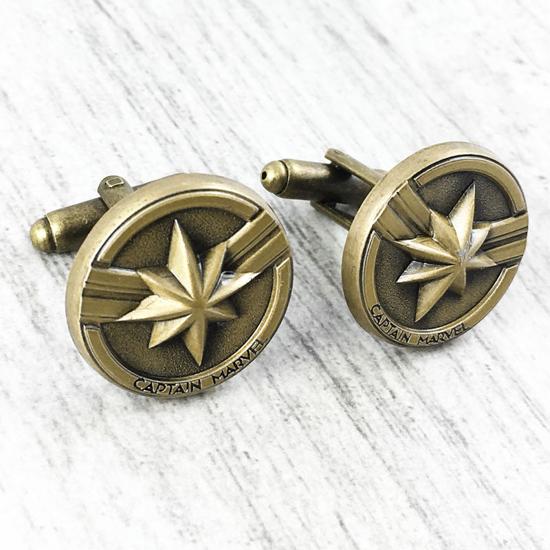 Captain Marvel Pewter Cuff Links - product images  of