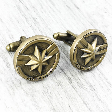 Captain,Marvel,Pewter,Cuff,Links,captain marvel, cuff links, cufflinks, pewter, bronze, comics, comic book geek, mens jewelry