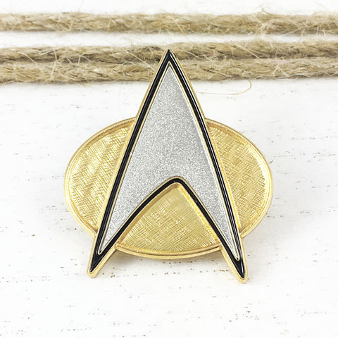 Star,Trek,Next,Generation,Communicator,Pin,star trek, next generation, communicator, pin, badge, cosplay, insignia, starfleet, star fleet, delta, trekkie, trekky, trekie, geeky, jewelry