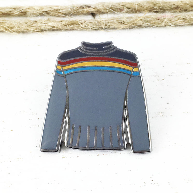 Star Trek Wesley Crusher Sweater Enamel Pin - product images  of