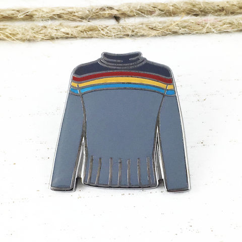 Star,Trek,Wesley,Crusher,Sweater,Enamel,Pin,star trek, wesley crusher, sweater, enamel pin, jacket, next generation, metal pin, treky, trekkie