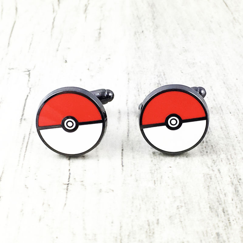 Pokéball Stainless Steel Cuff Links - product images  of