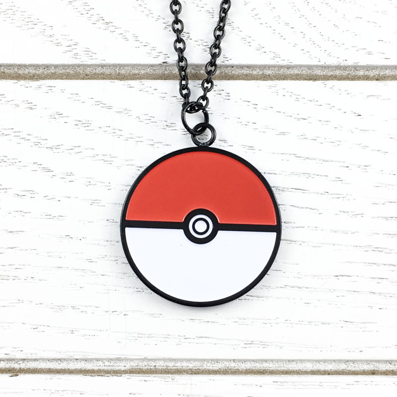 Pokéball Stainless Steel Necklace, large - product images  of