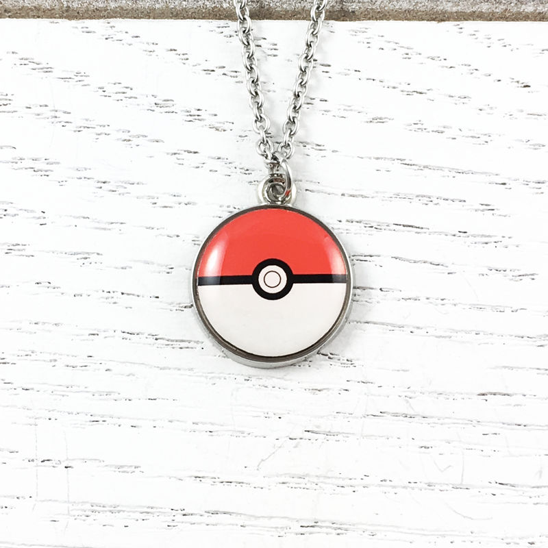 Pokéball Small Stainless Steel Necklace  - product images  of