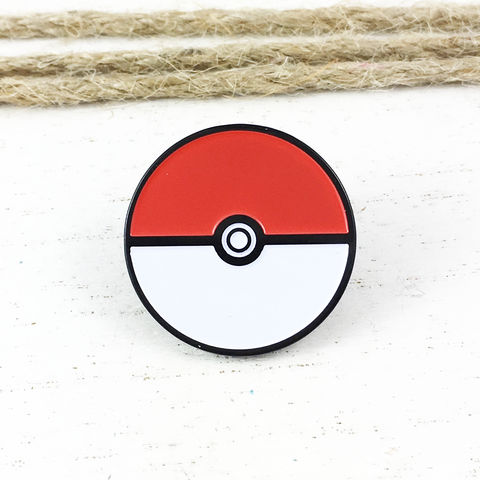Pokéball,Enamel,Pin,pokeball pin, lapel pin, tie pin, tie tack, red and white, poke ball, pokemon, geeky, anime, jewelry, nerd, geek, gaming