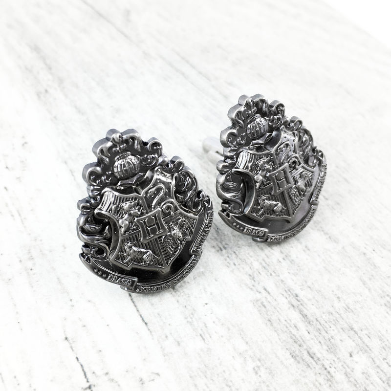 Harry Potter Hogwarts Pewter Cuff Links - product images  of