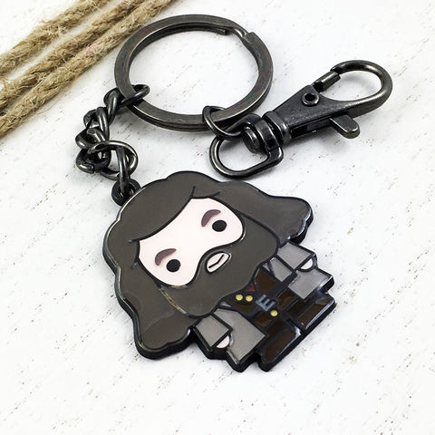 Harry,Potter,Hagrid,Cutie,Keychain,harry potter, Hagrid, keychain, key chain, keyring, key ring, cutie, character, chibi, enamel, colour, potterhead