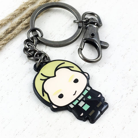Harry,Potter,Draco,Malfoy,Cutie,Keychain,harry potter, draco malfoy, keychain, key chain, keyring, key ring, cutie, character, chibi, enamel, colour, potterhead