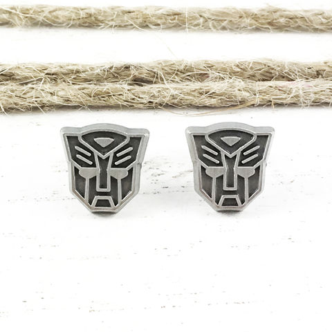 Transformers,Autobots,Stud,Earrings,transformers, earrings, autobots, studs, mens, autobot, optimus prime, silver, stainless steel