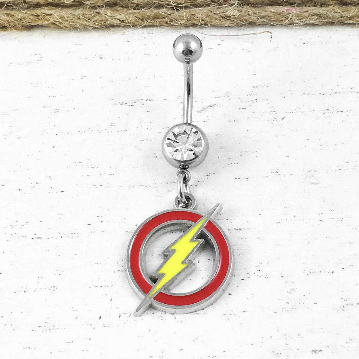 DC Wonder Woman Logo Navel Belly Button Ring