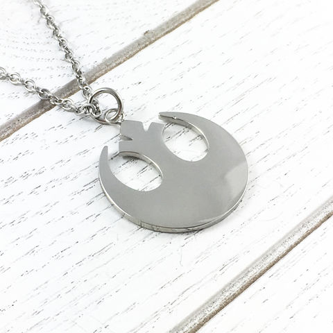 Star,Wars,Rebels,Stainless,Steel,Necklace,star wars, rebels, stainless steel, necklace, pendant, mens, simple, plain, silver, rebel alliance, geeky jewelry