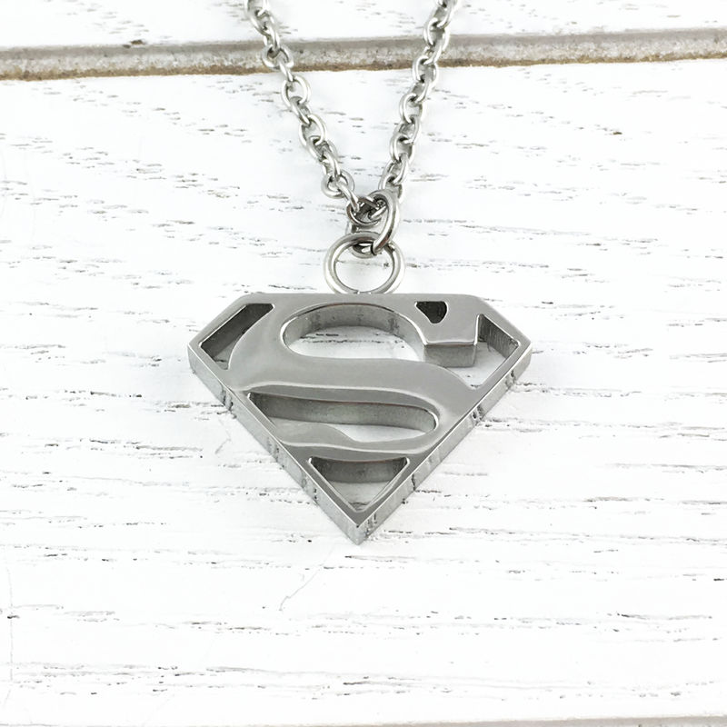 Superman Stainless Steel Necklace - product images  of