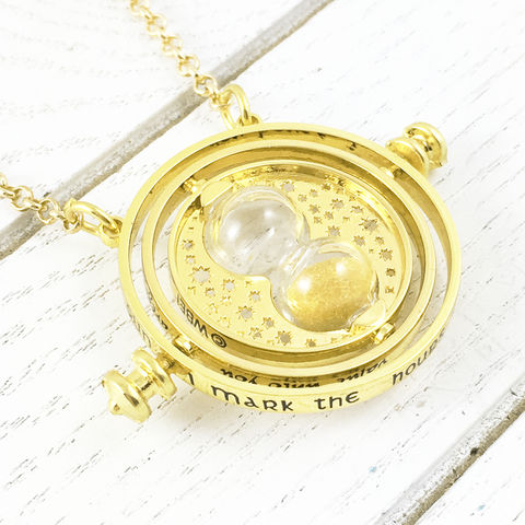 Harry,Potter,Timeturner,Spinning,Necklace,harry potter, timeturner, necklace, small, hermione granger, spinning, moving, metal, cosplay, time turner
