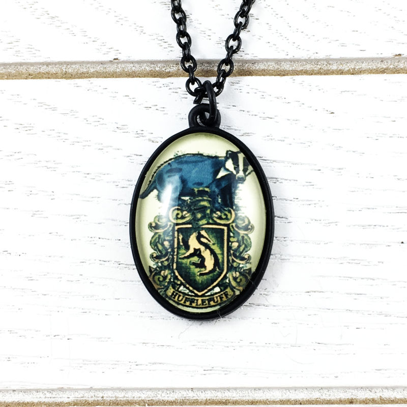 Harry Potter Hufflepuff Cameo-Style Necklace - product images  of