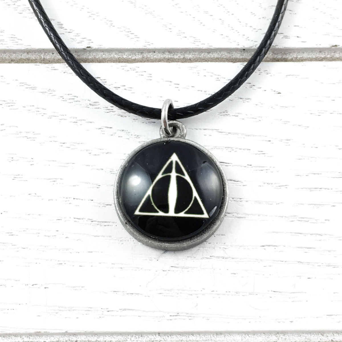 39db505460fad Deathly Hallows Cabochon Necklace - Pinz'n'Thingz
