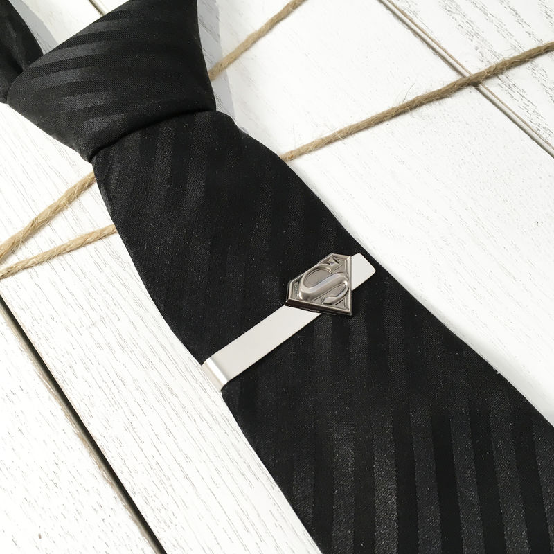 Superman Pewter Tie Clip - product images  of