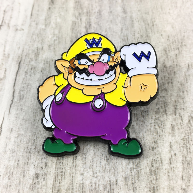 Super Mario Wario Enamel Pin - product images  of
