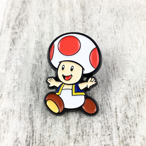 Super,Mario,Toad,Enamel,Pin,super mario, enamel pin, pin badge, toad, mystery box, collectors, series 1, gamer, geek, metal pin, geeky, power-a, power a