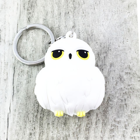 Harry,Potter,Hedwig,3D,Keychain,harry potter, hedwig, 3D, keychain, keyring, key chain, bag clip, owl, white, snowy owl