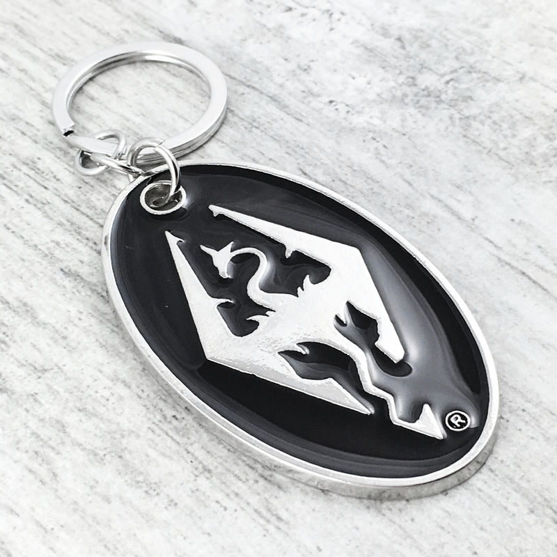 Skyrim Dragon Keychain - product images  of